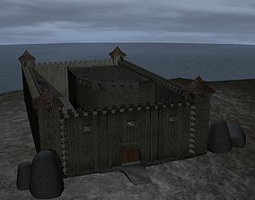 Fortress Castle Game Level 3D asset