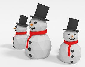 Snowman 3D model VR / AR ready