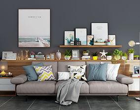 decor 3D Livingroom modern sofa set 6