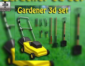 3D asset Set gardener