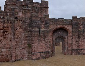 Fortress Keep Construction Set 3D asset