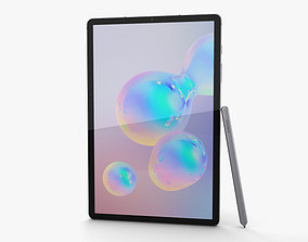 3D model Samsung Galaxy Tab S6 Mountain Gray