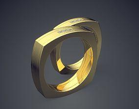 3D printable model Unique Design Golden Square-Shaped 3
