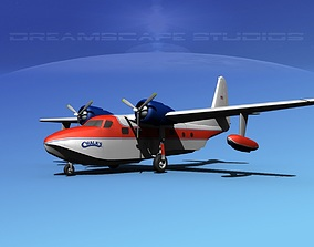 Grumman G-73 Mallard Chalck 1 3D rigged