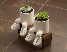 Planter with sneakers - stl for 3D printing 3D model 3D