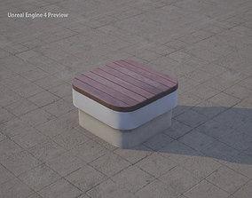 3D model realtime street bench