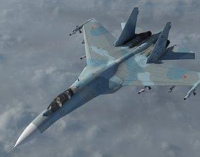 SU-27 -Airborne - textured 3D
