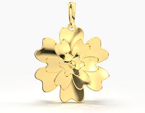 FLOWER GOLD PENDANT 3D print model