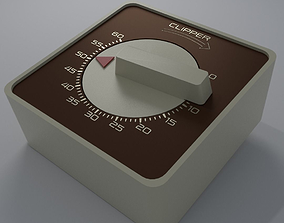 3D asset Kitchen Timer Retro Low Poly