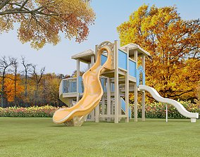 Playground ladder 3D