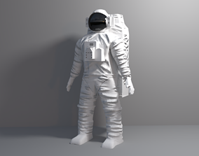 3D model rigged Astronaut