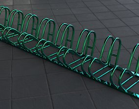 Bicycle parking - moth 3D asset low-poly