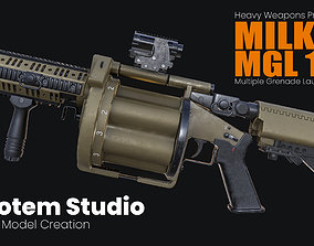 Milkor Multiple Grenade Launcher 140 3D model