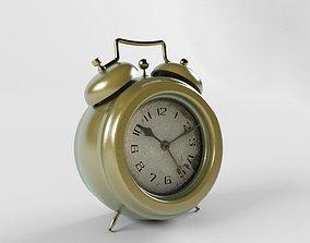 3D The old alarm clock