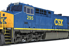 3D model CSX Diesel Electric Locomotive
