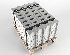 container Stone on pallet 3D model