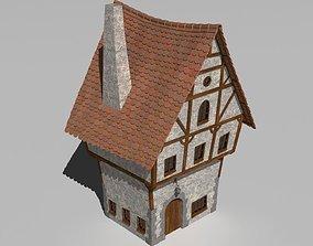 Cartoon house 3D architecture