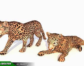 Lowpoly Jaguar-Leopard Animated 3D model animated