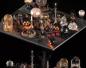 3D halloween table setting