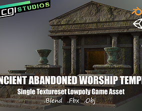 3D asset realtime Ancient Abandoned Worship Temple