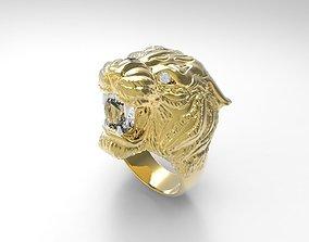 lion carrera ring 3D print model