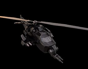 low-poly Helicopter 3d model