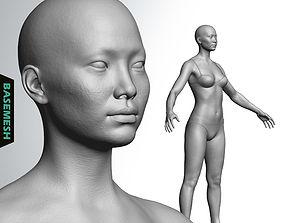 Average Asian Female Body Basemesh 3D model