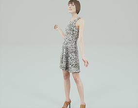 3D asset Leopard Dress Woman