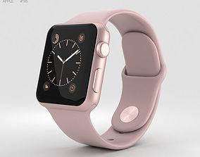 Apple Watch Series 2 38mm Rose Gold Aluminum Case Pink 3D