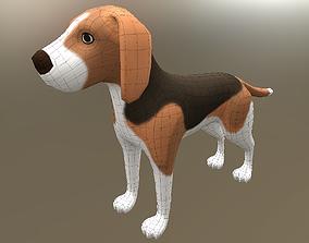 3D model rigged Dog beagle