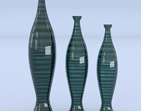 3D model Glass Green Vases