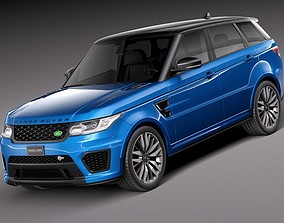 3D asset Land Rover Range Rover Sport