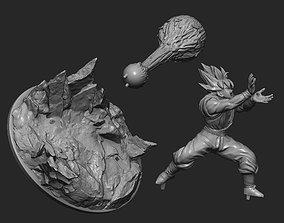 3D printable model Goku Super Saiyan Kamehameha