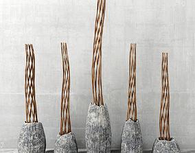 3D model Branch twist stone vase