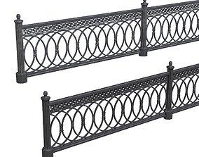 Park fence 02 3D asset