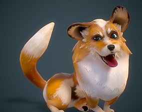 Cartoon Corgi Animated 3D model