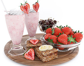 coctail 3D Strawberry summer set
