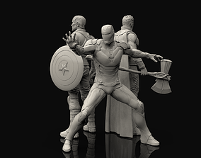 Avengers Statues Bundle 3D printable model