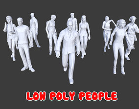 10 Low Poly People Posed Collection Pack 20 3D model
