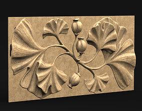 art Decorative panel Flowers 3D model