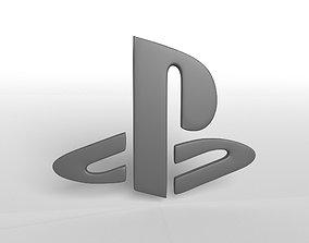 3D model Playstation Logo v1 001
