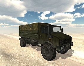 3D model Army Cargo Military Truck Lowpoly unity