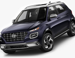 detailed Hyundai Venue 2020 3D model