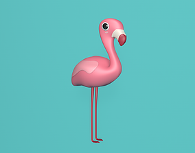 illustration 3D model Flamingo