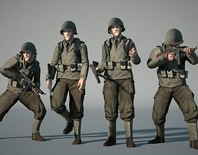 WW2 US-Soldier 3D model