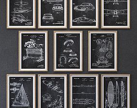 JUNIQE Vehicle Print collection 3D model