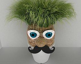 3D grass man