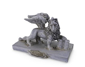 Lion of Venice - Low and High Poly versions 3D model