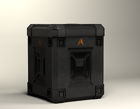 3D asset animated sci-fi box