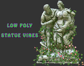 3D model Statue Vines 024 - Low Poly
